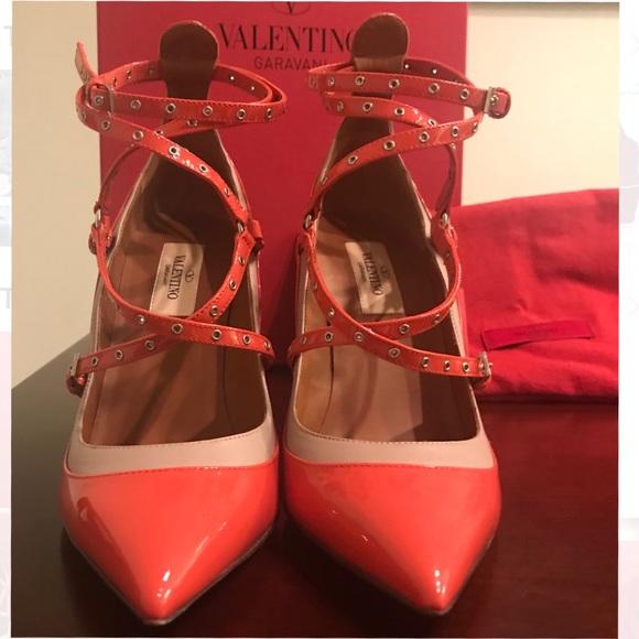 a91d3830ab Valentino Shoes | Deep Coral Love Latch Pumps | Poshmark